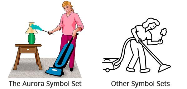 cleaning symbol set