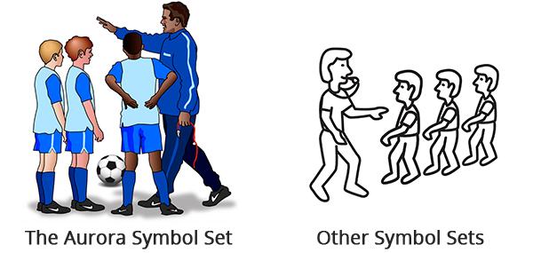 coaching symbol set