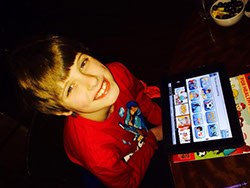 Happy child using Avatalker AAC app writes a review