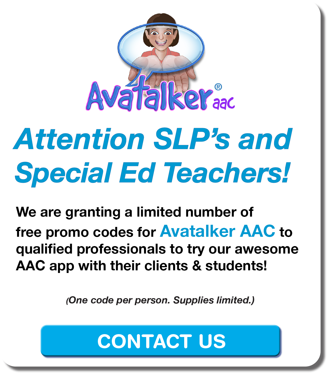 Free promo code for Avatalker AAC